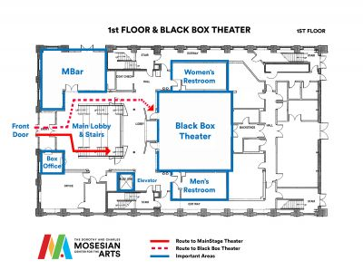 Ground Floor Map of MCA
